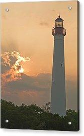 Lighthouse Sunset Acrylic Print by Tom Singleton