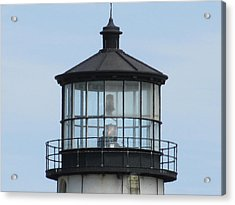 Lighthouse Visit Acrylic Print by Loretta Pokorny