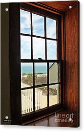 Lighthouse Window Acrylic Print by Methune Hively