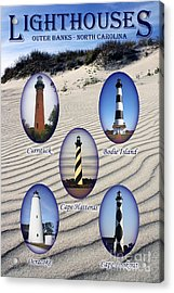 Acrylic Print featuring the photograph Lighthouses Of The Outer Banks by Tony Cooper