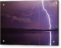Lighting Over Massapoag Acrylic Print