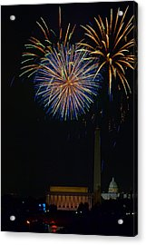 Lighting Up The National Mall Acrylic Print by David Hahn