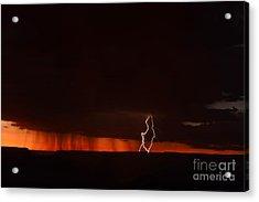 Lightning At The Grand Canyon Acrylic Print