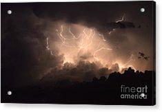 Lightning Acrylic Print by Bob Christopher