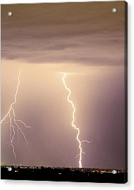Lightning Bolt With A Fork Acrylic Print by James BO  Insogna