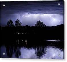 Lightning Over Coot Lake Acrylic Print by James BO  Insogna