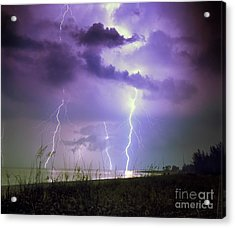 Lightning Over Florida Acrylic Print