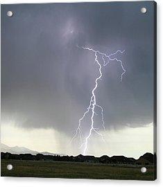 Lightning Strike Acrylic Print by Bill Dunford