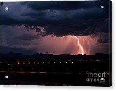 Lightning Strike Acrylic Print by Eddie Yerkish