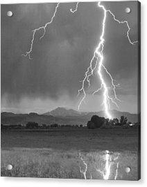 Lightning Striking Longs Peak Foothills 5bw Crop Acrylic Print by James BO  Insogna