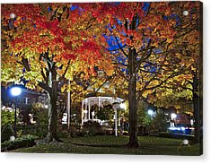 Acrylic Print featuring the photograph Ligonier Diamond At Night by Williams-Cairns Photography LLC