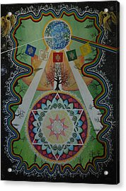 Like A Flower On The Farther Side Of Death Acrylic Print by Matthew Fredricey