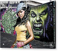 Lil Kim Acrylic Print by The DigArtisT