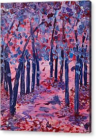 Lilac Avenue Acrylic Print by Judi Goodwin