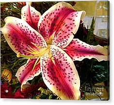 Lily Bouquet Arrangement Acrylic Print by Merton Allen