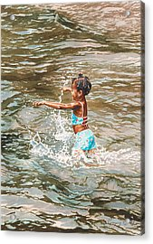 Lily Acrylic Print by Gregory Jules