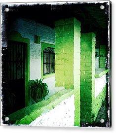 Lime Green & White House (puerto Acrylic Print