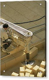 Limestone Extraction Acrylic Print
