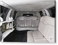 Limousine Interior Acrylic Print by Andersen Ross