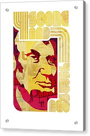 Lincoln 4 Score On White Acrylic Print by Jeff Steed