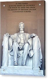 Acrylic Print featuring the photograph Lincoln Memorial 001 by George Bostian