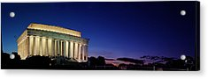 Lincoln Memorial At Sunset Acrylic Print by Metro DC Photography