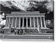 Lincoln Memorial In Black And White Acrylic Print