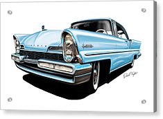 Lincoln Premier In Baby Blue Acrylic Print by David Kyte