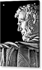 Lincoln Profile Acrylic Print by Christopher Holmes