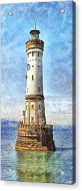 Lindau Lighthouse In Germany Acrylic Print by Nikki Marie Smith