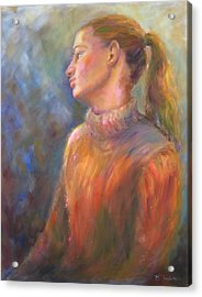 Acrylic Print featuring the painting Lindsay by Bonnie Goedecke