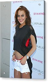 Lindsay Lohan At Arrivals For Lindsay Acrylic Print by Everett