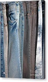 Line Of Jeans Acrylic Print by Antoni Halim