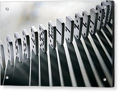 Lined Up Dominoes Acrylic Print by Victor De Schwanberg
