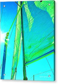 Lines And Sheets Acrylic Print by Julie Lueders