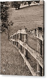 Lines Bw Acrylic Print by JC Findley