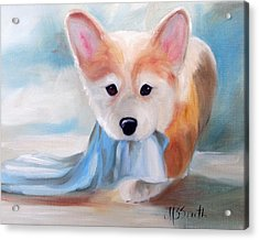 Linus And His Blanket Acrylic Print by Mary Sparrow