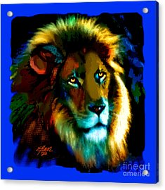 Lion Icon Acrylic Print