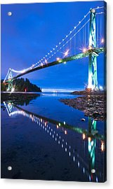 Lions Gate Bridge, Vancouver, Canada Acrylic Print by David Nunuk