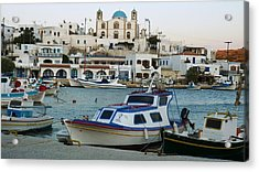Acrylic Print featuring the photograph Lipsi Harbour by Therese Alcorn
