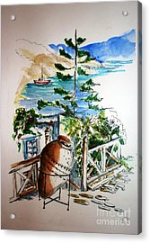 Acrylic Print featuring the painting Lipsi  by Therese Alcorn