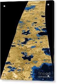 Liquid Lakes On Titan Acrylic Print