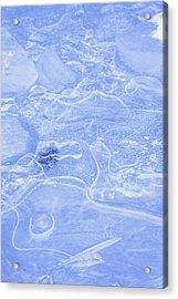 Liquid Texture Acrylic Print by Carson Ganci