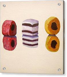 Liquorice Allsorts Acrylic Print by Nikki Rosetti