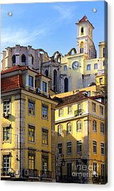 Lisbon Buildings Acrylic Print by Carlos Caetano