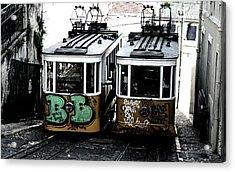 Lisbon Tram Acrylic Print by Gabriel Calahorra