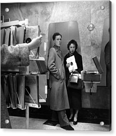Listening Booth Acrylic Print by John Drysdale