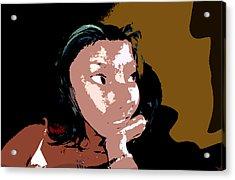 Listening Acrylic Print by David Lee Thompson
