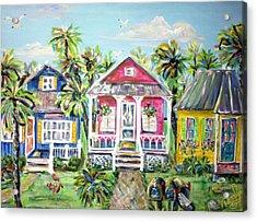 Little Beach Houses Acrylic Print by Doralynn Lowe