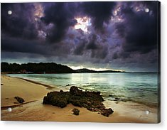 Acrylic Print featuring the photograph Little Beach Sunset by Paul Svensen